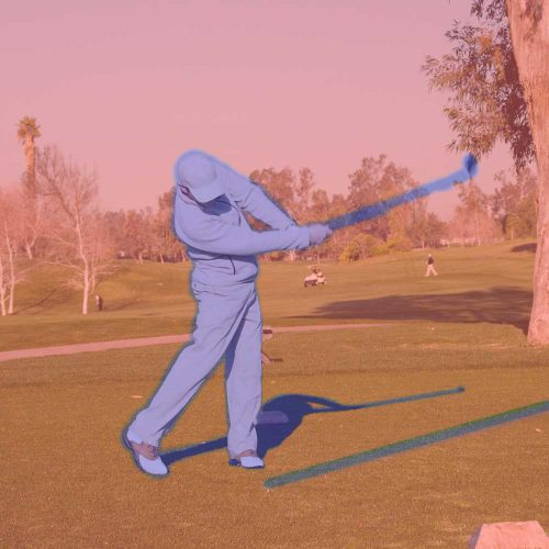 demonstration of neuromorphic vision with golfer