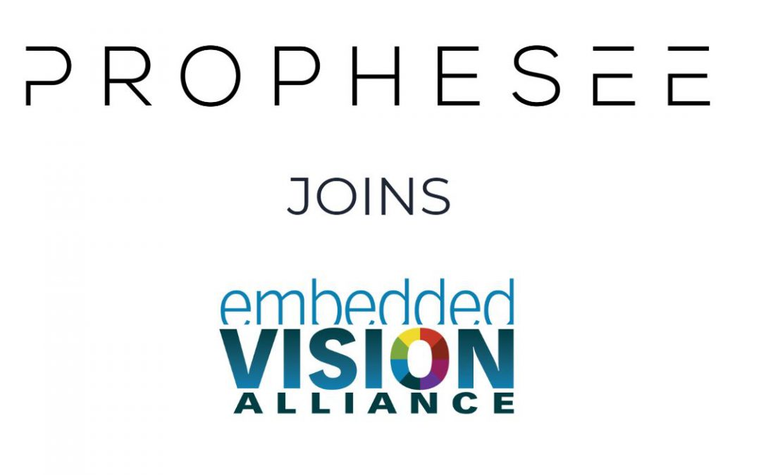 Prophesee joins the Embedded Vision Alliance