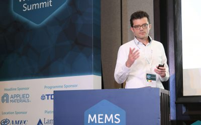 Luca Verre delivers a speech at MEMS World Summit